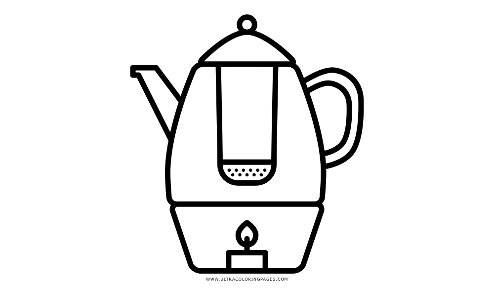 Dibujo De Calentador De Tetera Para Colorear Ultra