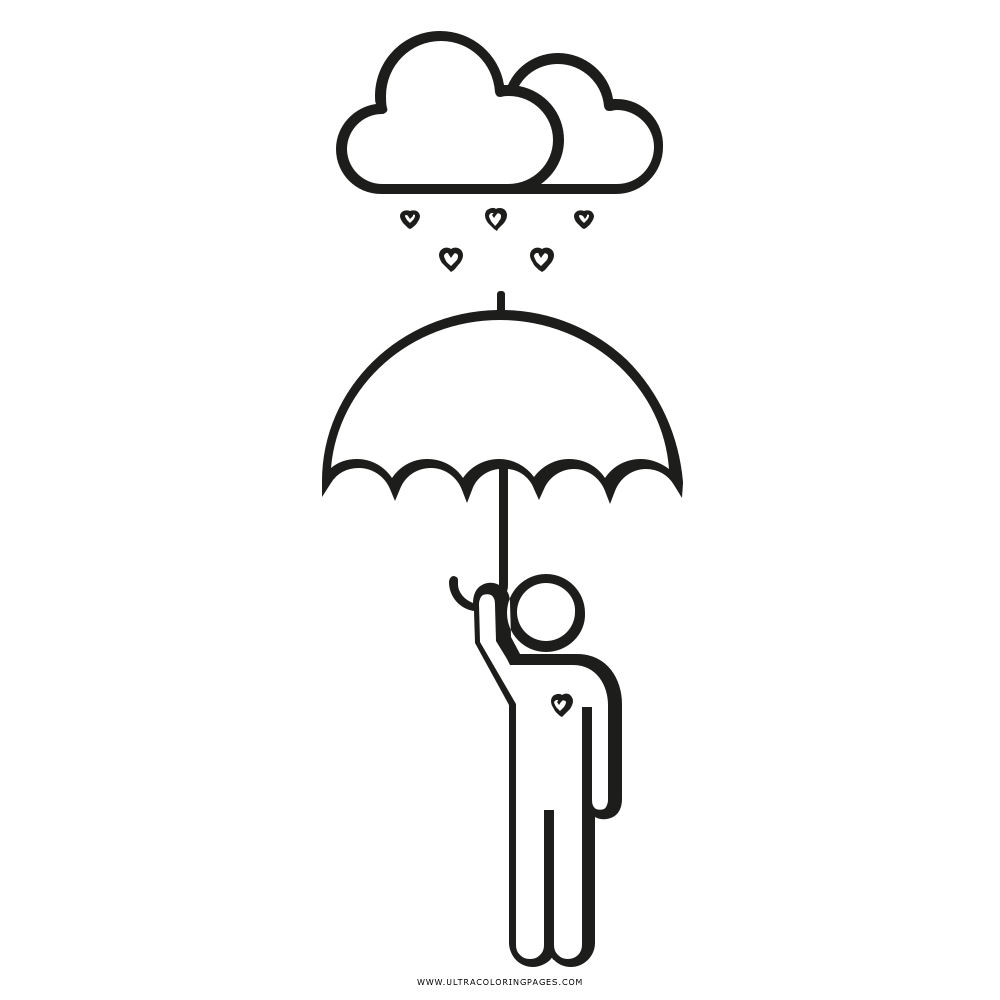 Love Umbrella Coloring Page - Ultra Coloring Pages