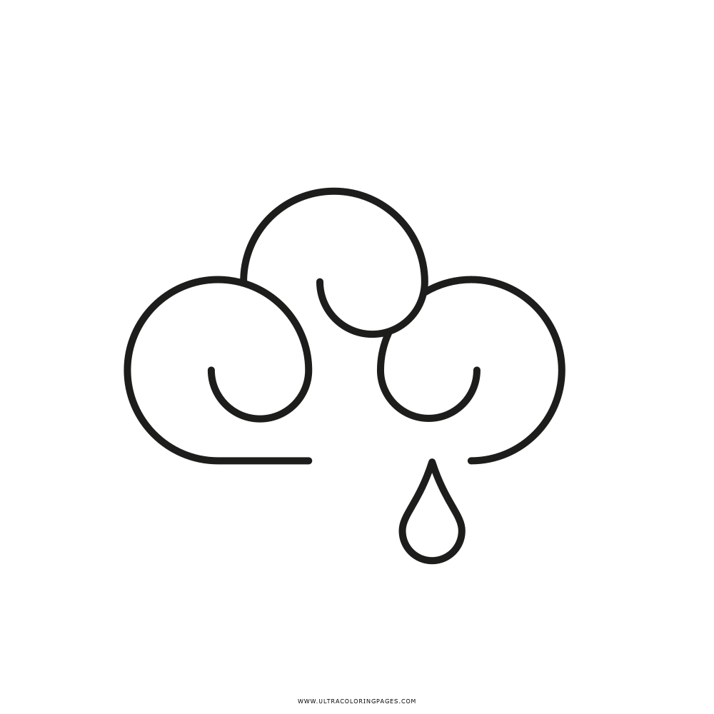 Rain Cloud Coloring Page - Ultra Coloring Pages