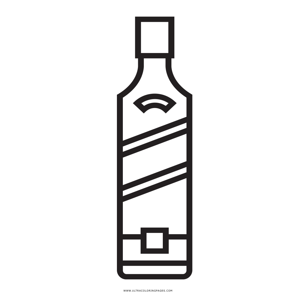 botella-de-whisky Página Para Colorear