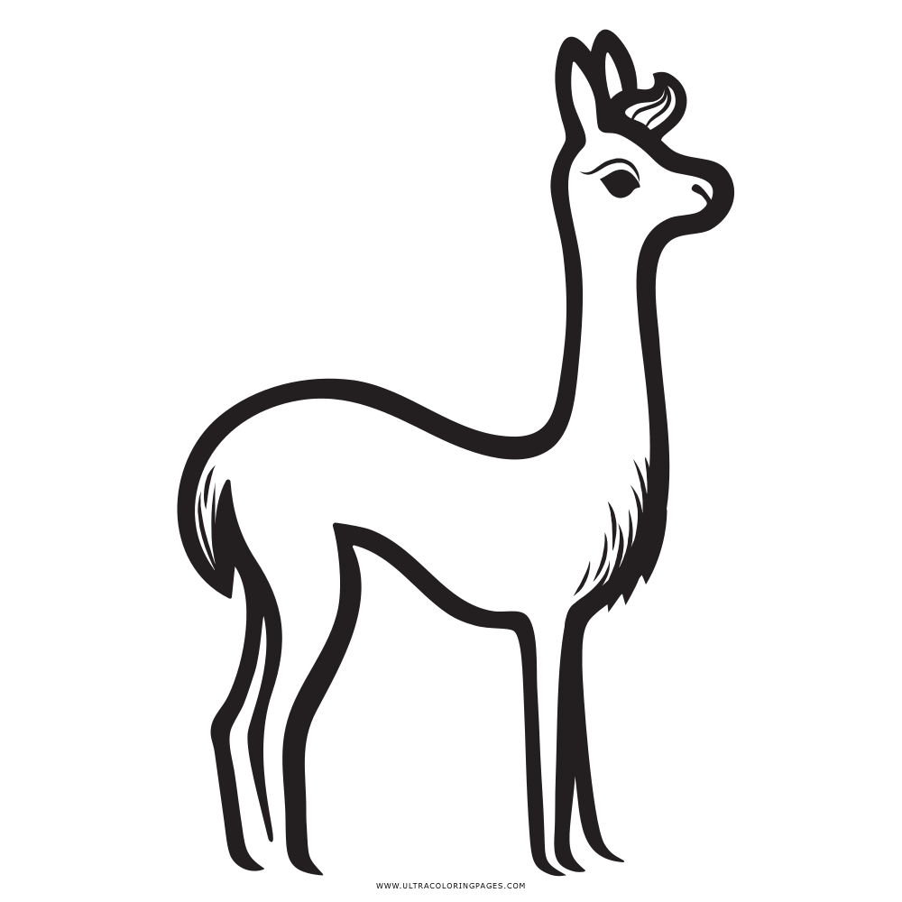 Dibujo De Llama Para Colorear - Ultra Coloring Pages