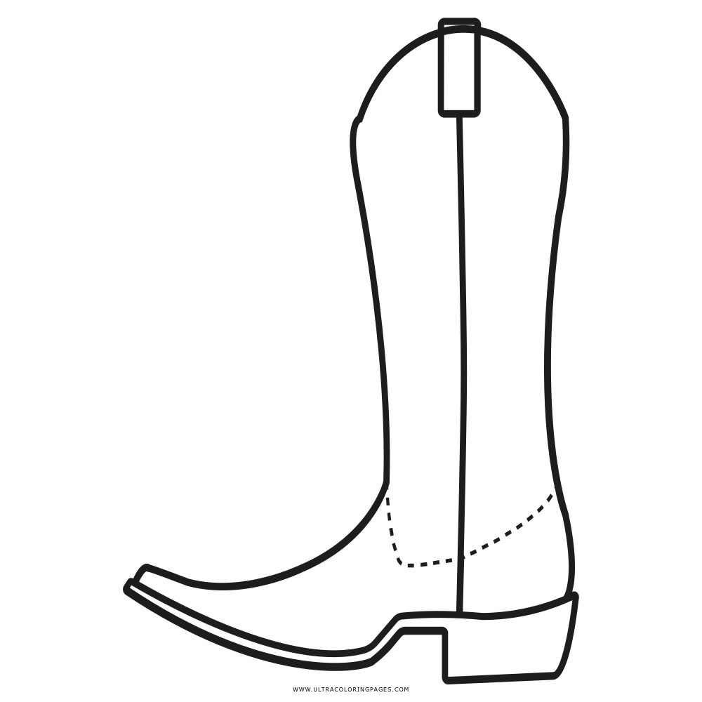 cowboy boot coloring page ultra coloring pages