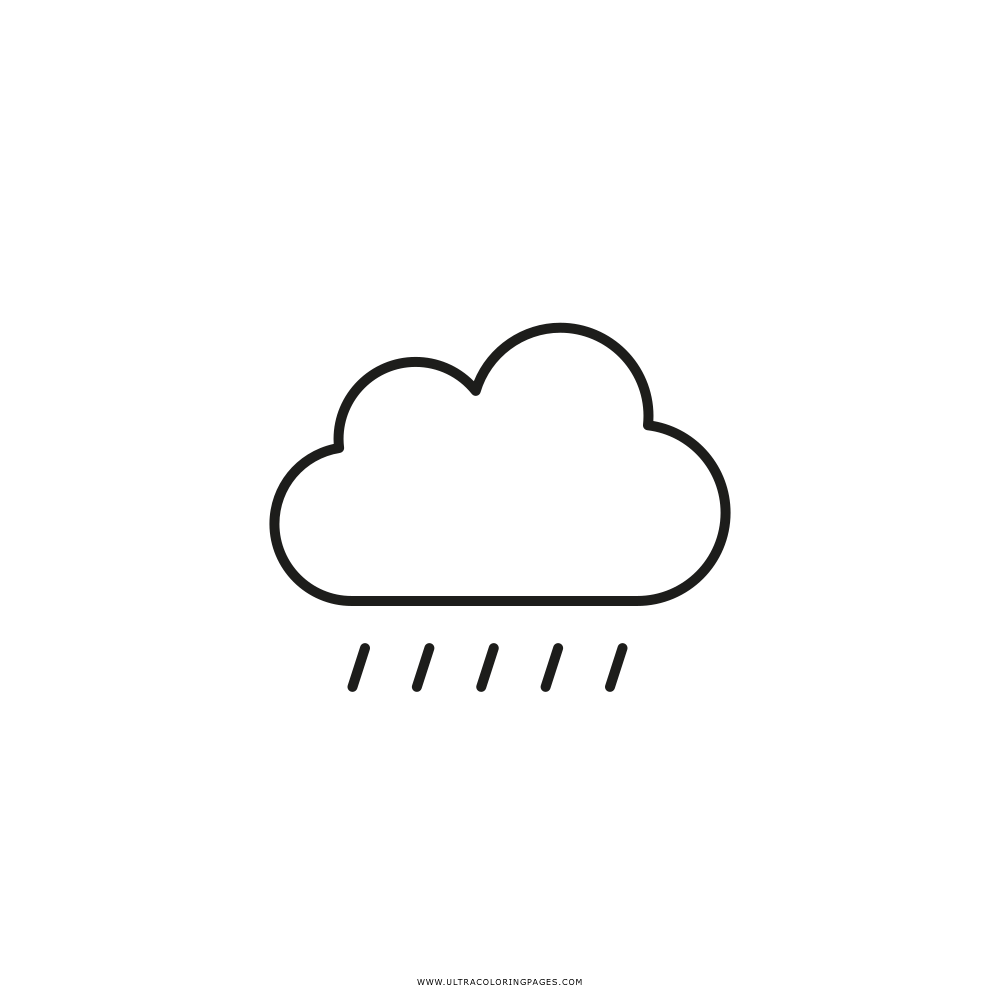 rain cloud Coloring Page