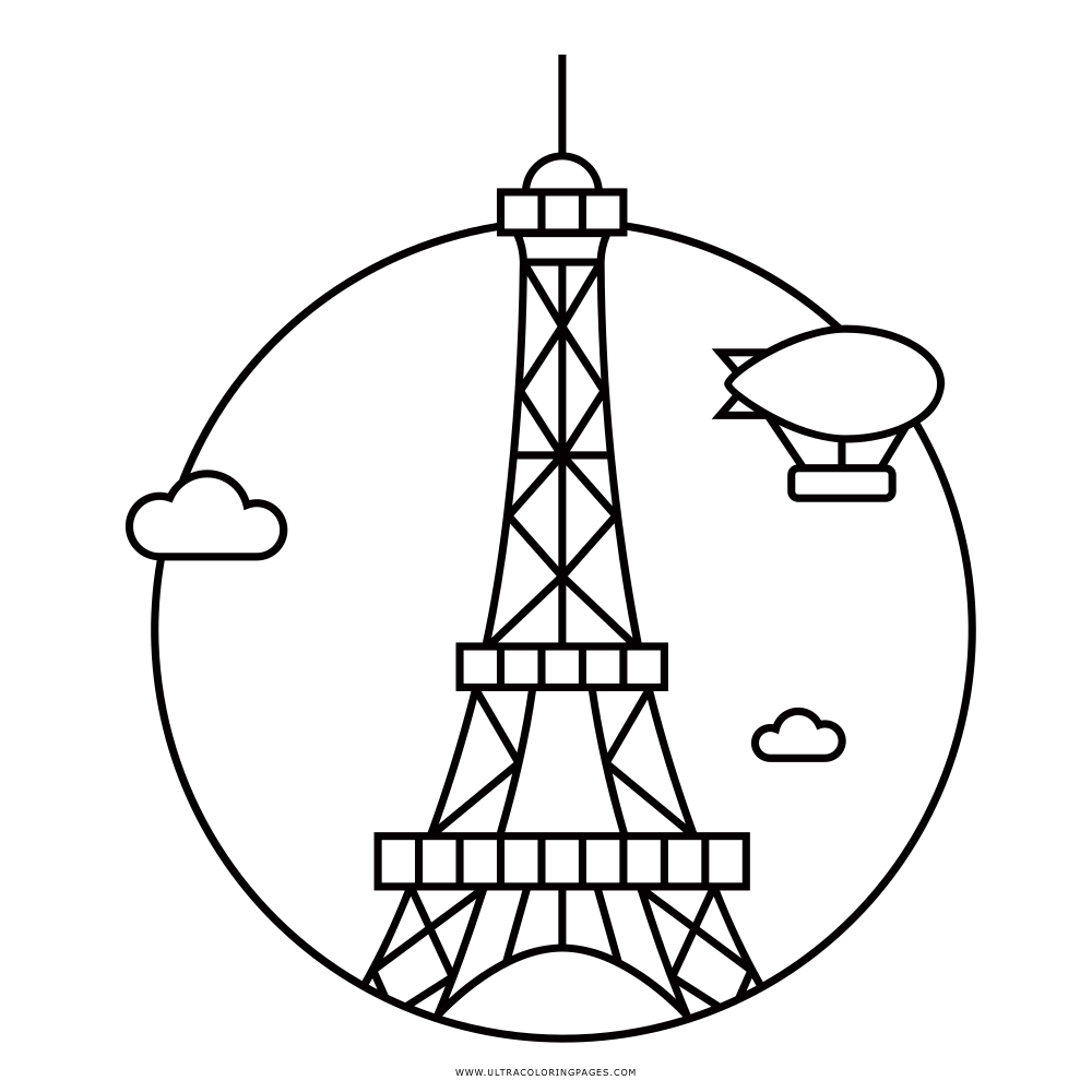 Paris Coloring Page Ultra Coloring Pages