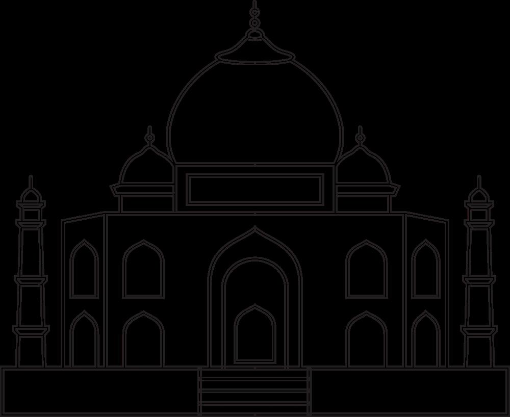 Taj Mahal Ausmalbilder - Ultra Coloring Pages