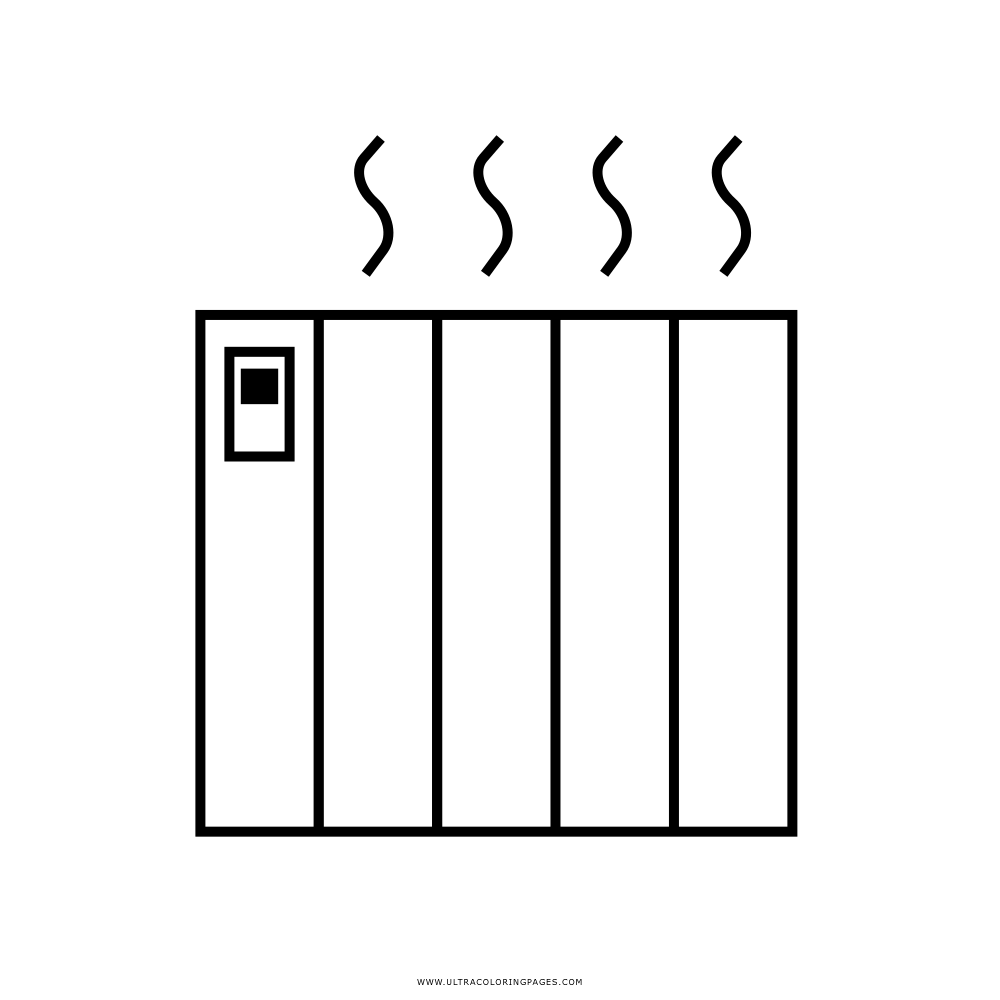 Dibujo De Calentador Eléctrico Para Colorear Ultra