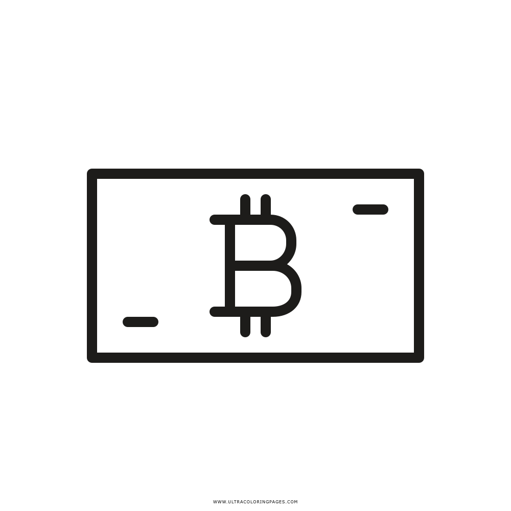 bitcoin Coloring Page