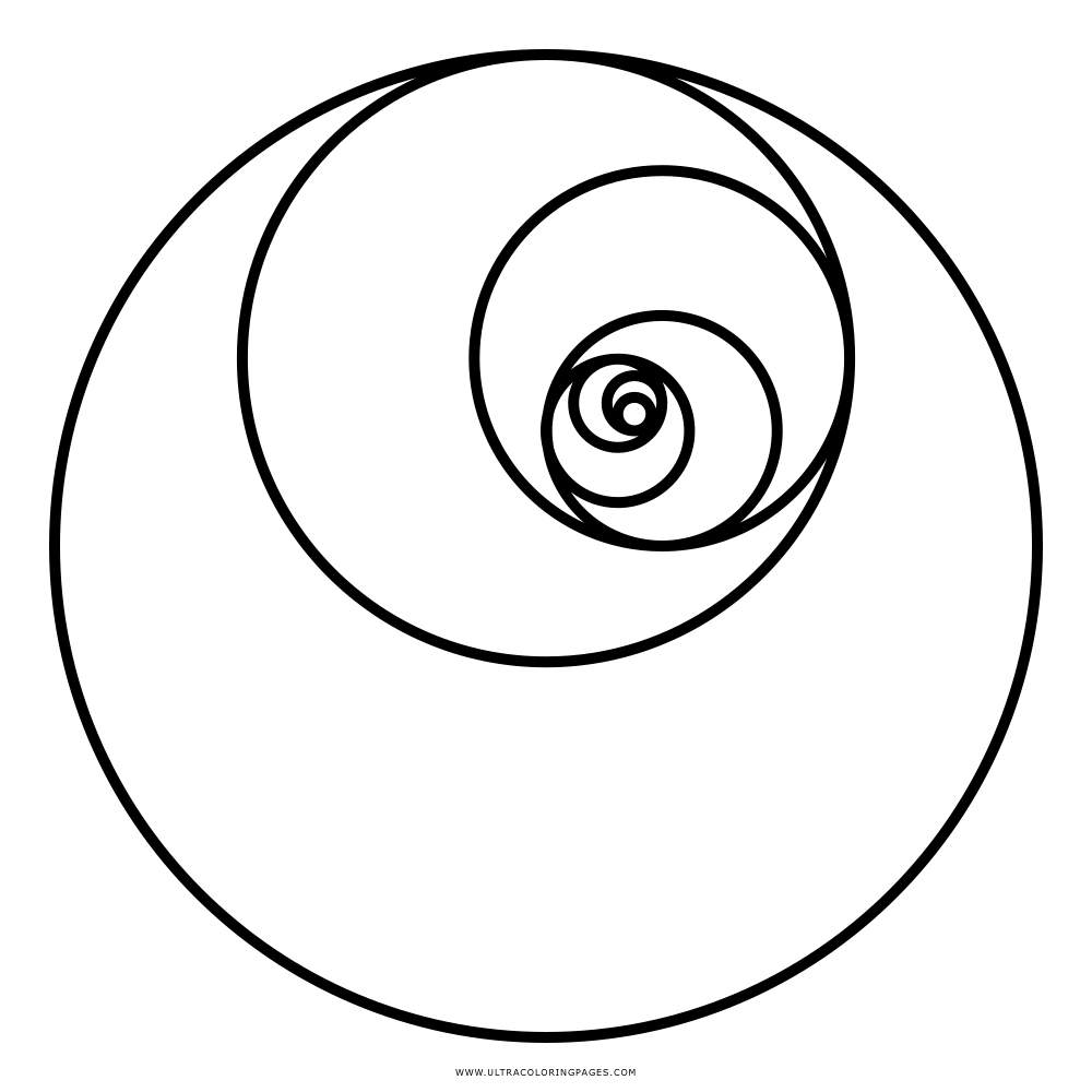 Dibujo De Círculos De Fibonacci Para Colorear - Ultra Coloring Pages