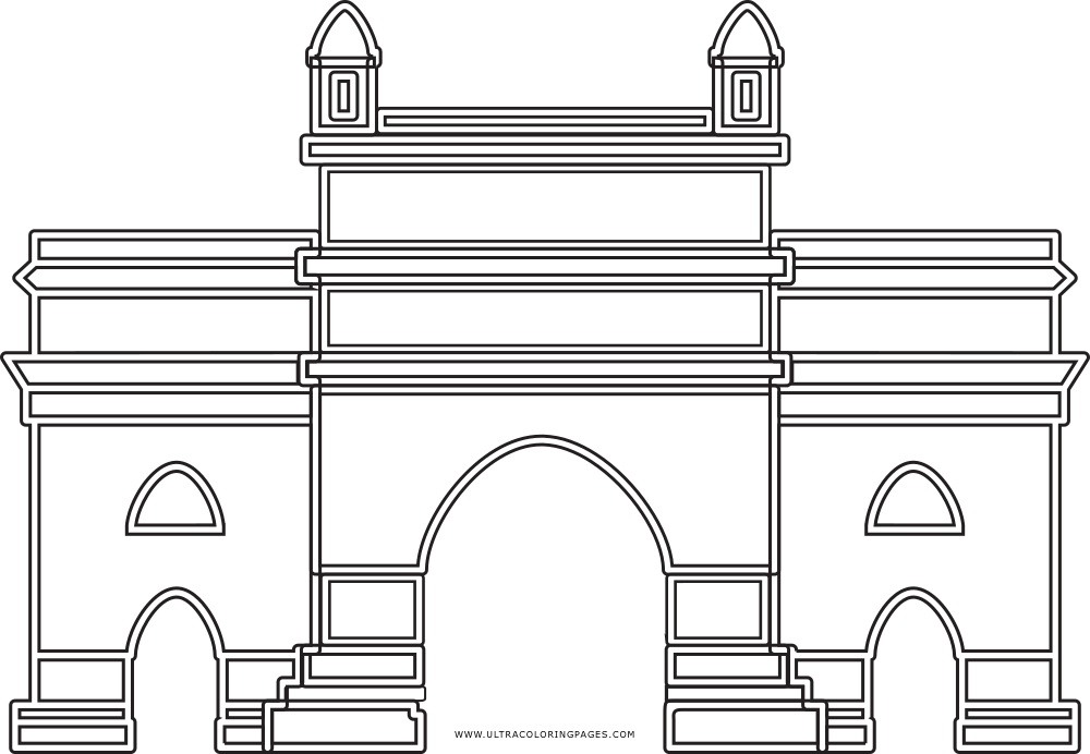 Gateway Of India Coloring Page - Ultra Coloring Pages