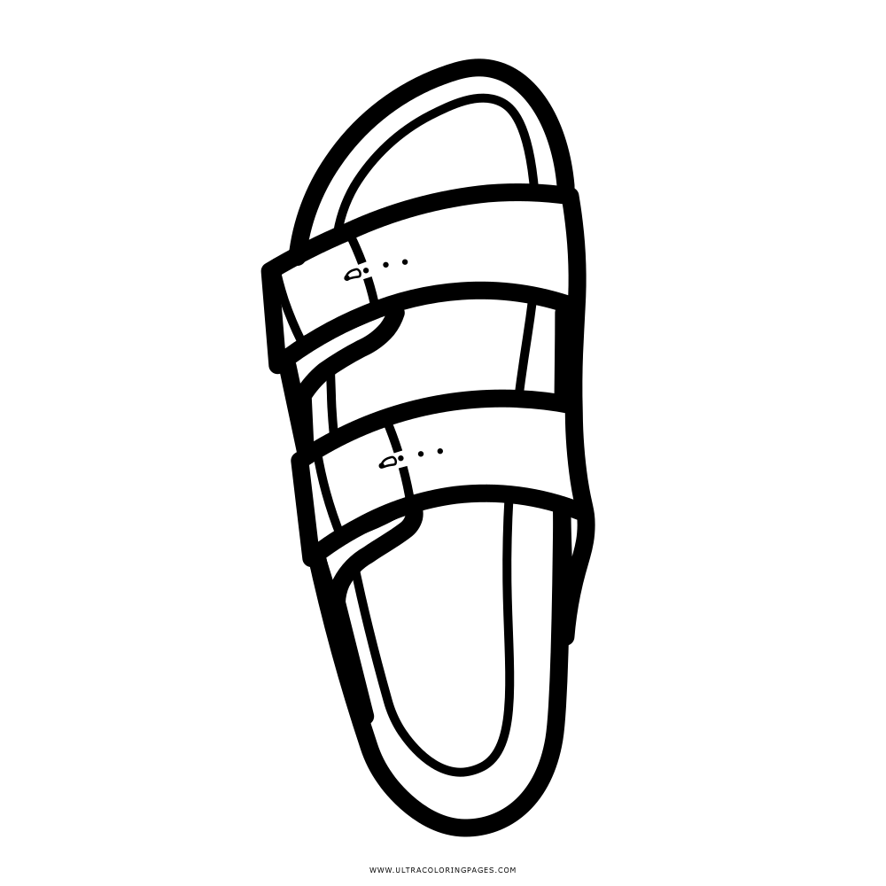 arizona sandal Coloring Page