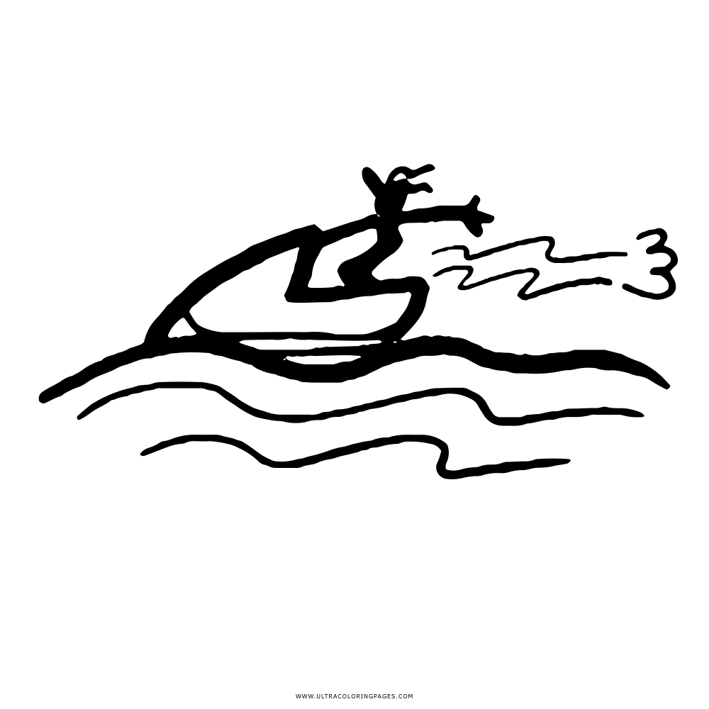 Jetski Coloring Page