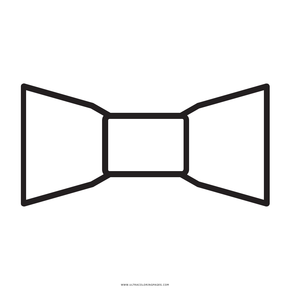 Bow Tie Coloring Page - Ultra Coloring Pages