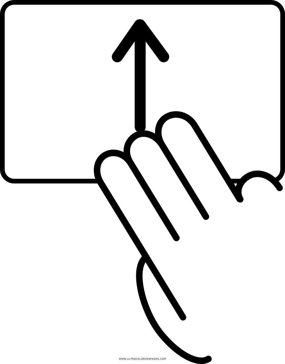 swipe up Coloring Page